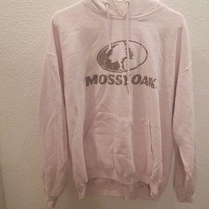 Light pink mossy oak hoodie- XL